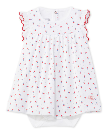 Baby girl's print bodysuit dress