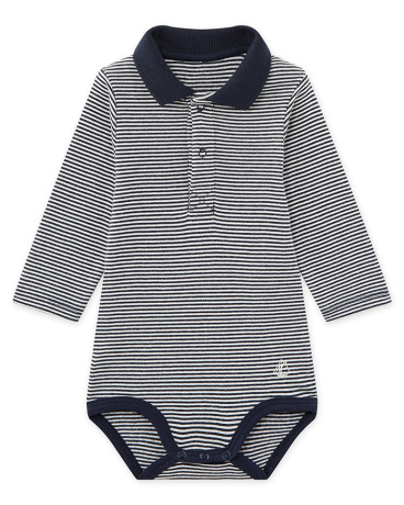 Baby boy's milleraies striped bodysuit