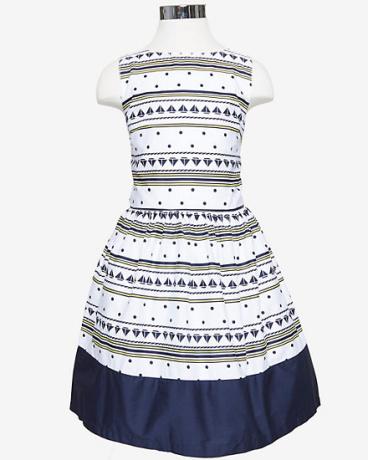 Girls' Sailboat Stripe Dress (8-16)
