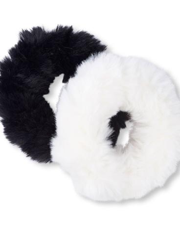 Girls Faux Fur Hair Ties 2-Pack