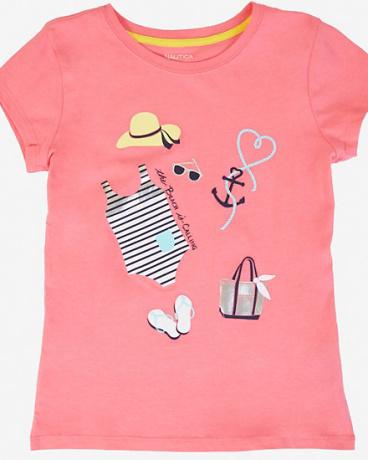 Little Girls' Beach Graphic Tee (2T-7)