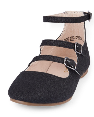 Girls Triple-Strap Avery Flat