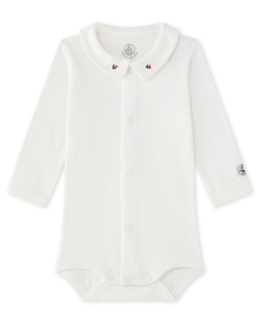 Baby boy's bodysuit with collar