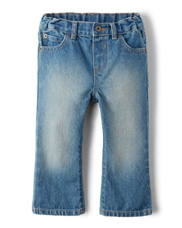 Toddler Boys Basic Bootcut Jeans - Light Stone Wash