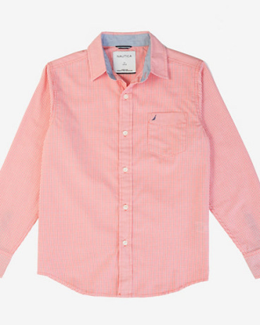 Little Boys' Gingham Button-Down Shirt (2T-7)