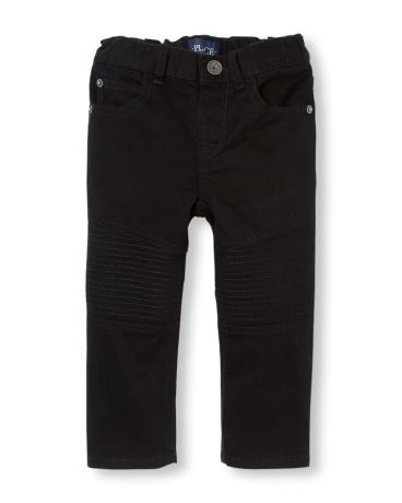 Toddler Boys Skinny Moto Pants
