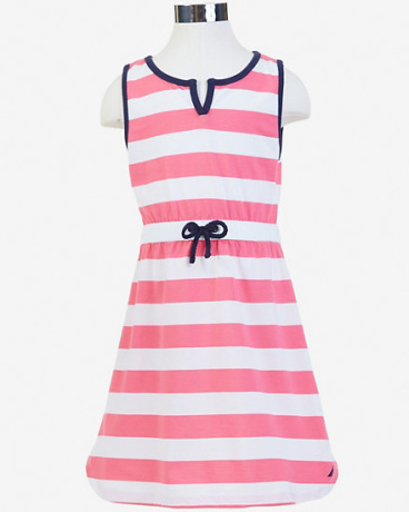 Little Girls' Striped Sleeveless Dress (2T-7)