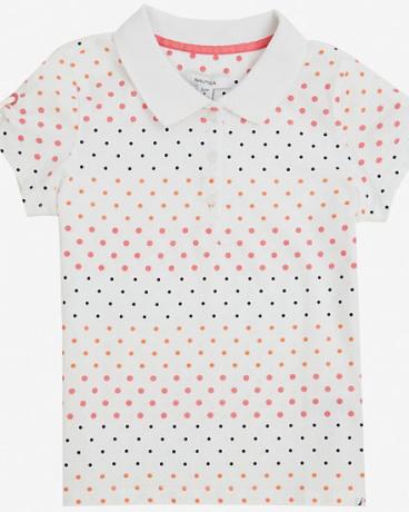 Little Girls' Striped Polka Dot Polo Shirt (2T-7)