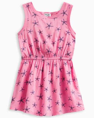 Little Girl Allover Starfish Print Dress