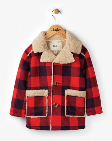 Plaid Lumber Faux Sherpa Jacket