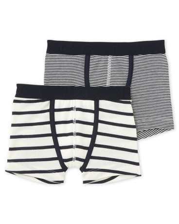 Pack of 2 boy's striped boxers
