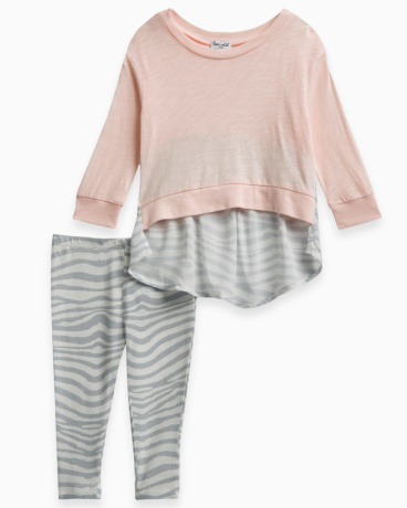 Baby Girl Zebra Print Sweatshirt Set