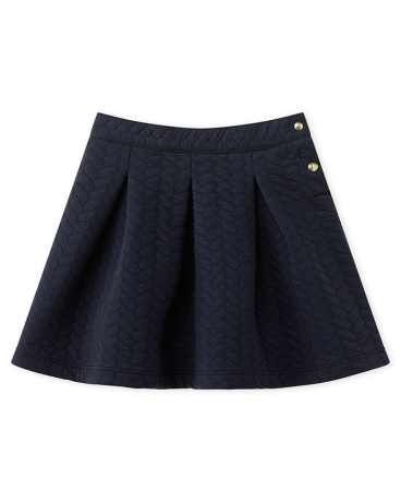 Girl's quilted double knit skirt