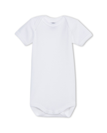 Unisex baby plain short-sleeve bodysuit