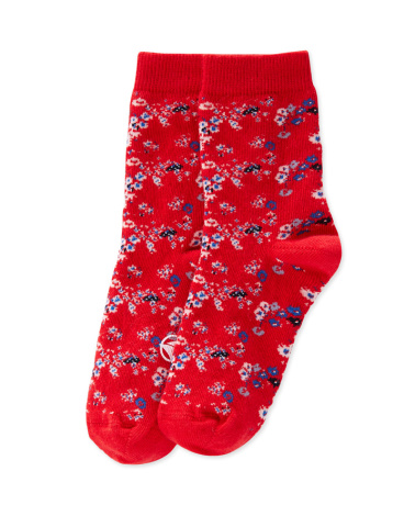 Girls' flower print socks