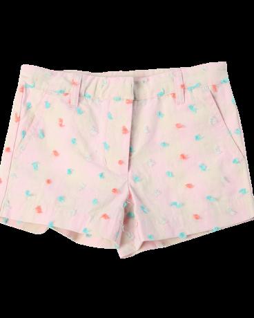 Girls Cotton Twill Plaid Short