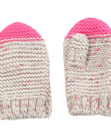 Girls Knit Tipped Mittens