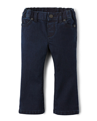 Baby And Toddler Girls Bootcut Jeans - Blueberry Wash
