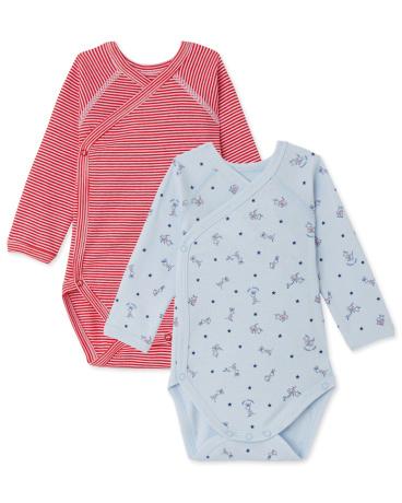 Pack of 2 newborn baby boy bodysuits