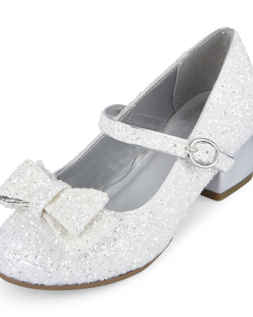 Girls Glitter Annie Mini Heel