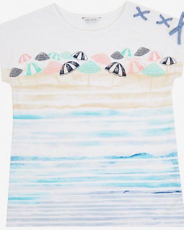 Little Girls' Beach Umbrella Tee (2T-7)