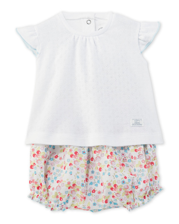 Baby girl T-shirt and bloomers set