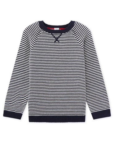 Boy's wool and cotton pullover