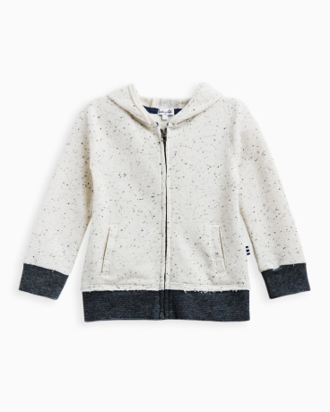 Little Boy Speckle Brushed French Terry Hoodie