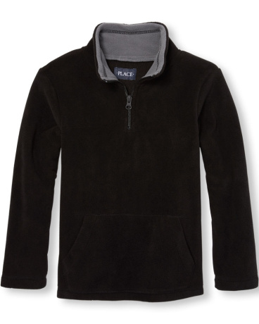 Boys Long Sleeve Solid Glacier Fleece Half-Zip Pullover