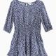 Little Girl Ditsy Dot 3/4 Sleeve Dress