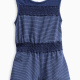 Baby Girl Indigo Romper with Lace