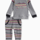 Baby Boy Long Sleeve Raglan with Striped Pant Set