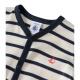 Baby boys' striped sleepsuit