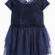 Little Girl Velour with Triple Mesh Dress