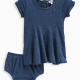 Baby Girl Indigo Fit and Flare Dress