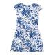 Girls' print dress in fleece