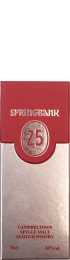 Springbank 25 years 2016 Single Malt 70cl