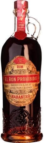 El Ron Prohibido Habanero 12 years 70cl