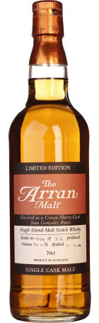 Arran Cream Sherry Cask from Gonzalez Byass Limited Edition 70cl