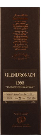 Glendronach 22 years 1992 Oloroso Sherry Butt 70cl
