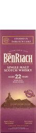 Benriach 22 years Dark Rum 70cl
