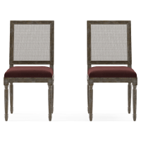 Petite Fleur Rattan Set of 2 Dining Chairs