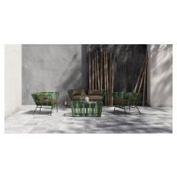 Tenerife 4 Piece Outdoor Setting 2x Dining Chairs and Lounge with Coffee Table