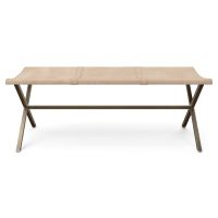 Daphne Leather Bench