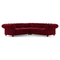 Notting Hill Velvet Chesterfield L-Shaped Modular Corner Sofa