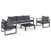 Malibu 3 Seaters & 2x Armchairs Outdoor Lounge Set