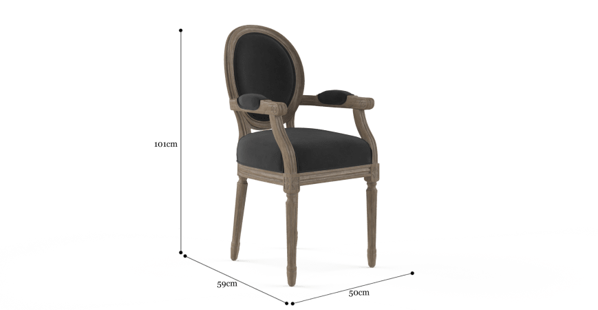 Louis Dining Chair with Armrest