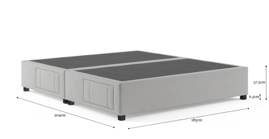King Size Upholstered Bed Base with Drawers