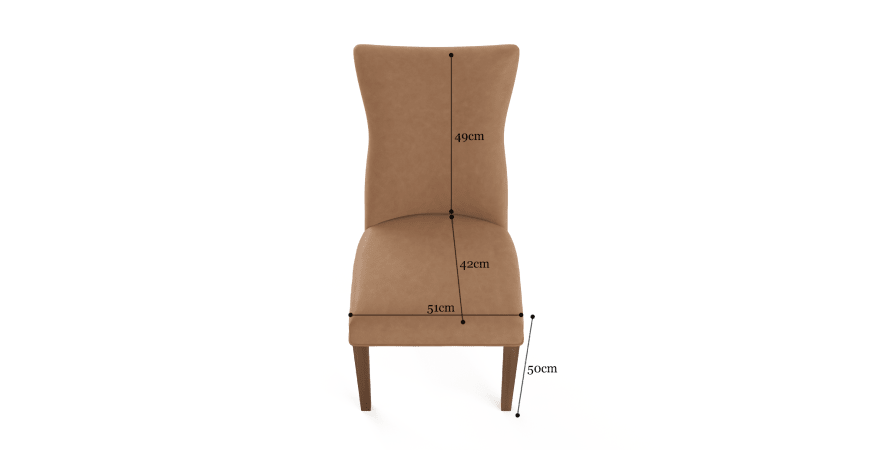 Zoe Leather Set of 2 Dining Chairs