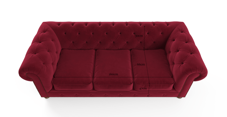 Notting Hill Velvet Chesterfield 3 Seater Sofa Bed